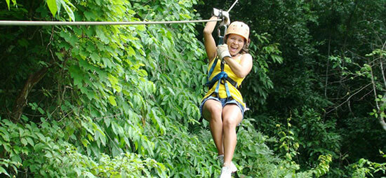 Shuttle Bus Transportation Service plus Montezuma Canopy Tour Package