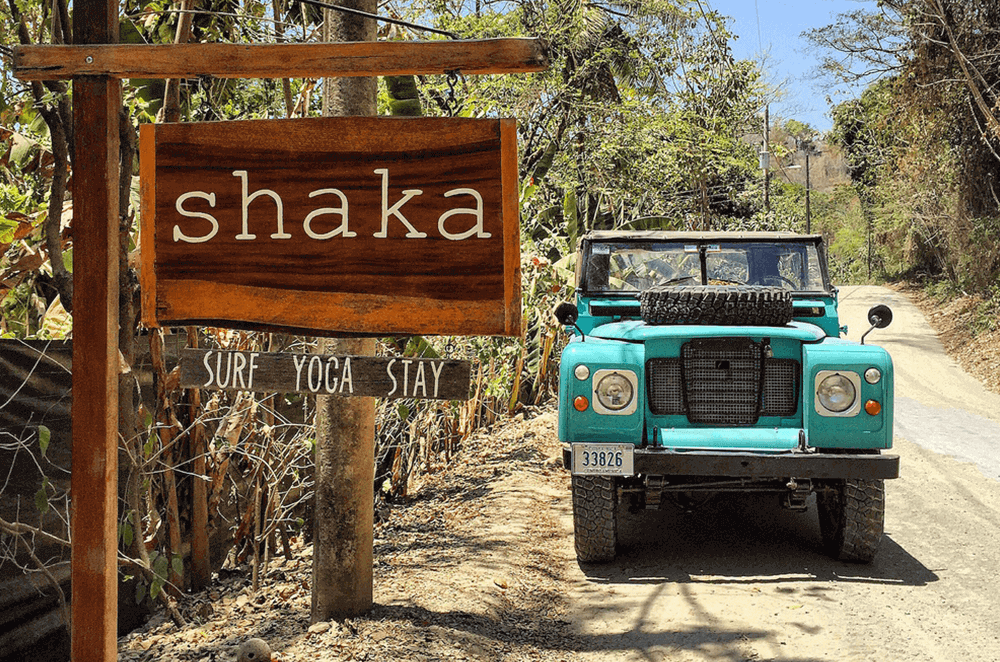 Shaka Beach Retreat sign