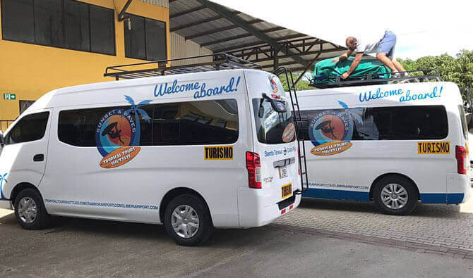 Tambor Tropical Beach Resort Shuttle Services