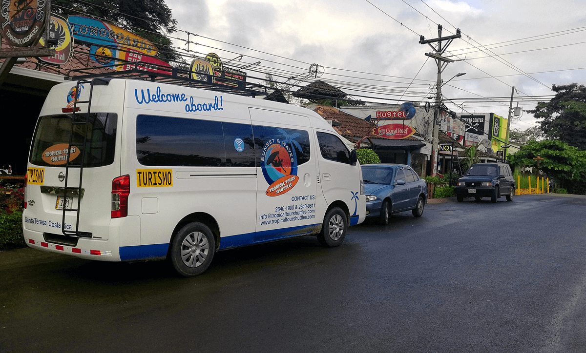Tamarindo and Guanacaste minibus transportation